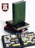 Leuchtturm Einsteckbuch PREMIUM, 32 schwarze Seiten, wattierter Leder-Einband