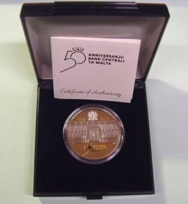 10 € Malta 2018 - 50 Jahre Zentralbank - PP teilvergoldet