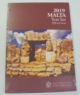 Malta KMS 2019 - stgl. - 2 € Ta' Hagrat mit Münzzeichen F