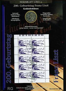 Numisblatt 1/2011 200. Geburtstag Franz Liszt