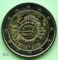 2 Euro Niederlande 2012 - 10 Jahre Euro Bargeld - bfr.