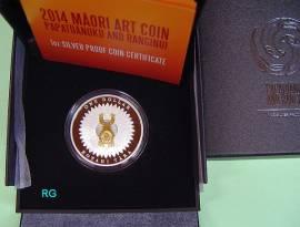 1 $ Neuseeland 2014 Maorikunst - Papatuanku and Ranginui - PP