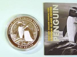 1 $ Neuseeland 2020 - Chatham Island Crested Penguin - BU
