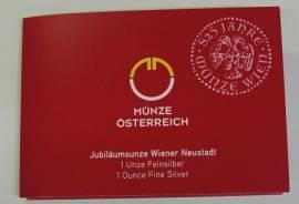1,5 Euro Österreich 2019 - Wiener Neustadt Jubiläumsunze - 1 oz Silber Blister