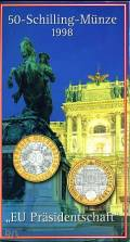 50 öS 1998 EU-Präsidentschaft hg (Blister)