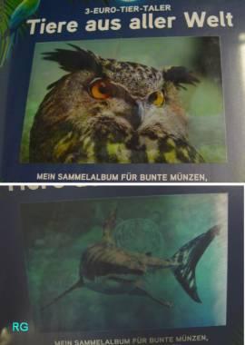 Österreich Offizielles Sammelalbum zur 3 € Tiertaler-Serie - Bild vergrößern