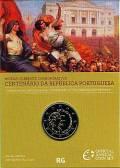 2 € Portugal 2010 - 100 Jahre Portugisische Republik - im Blister