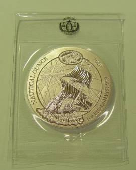 Ruanda 50 Franc Schiff Mayflower 2020 st 1 oz