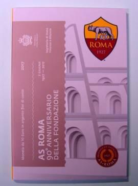 San Marino 10 € 2017- 90 Jahre Fußballverein AS Roma - BU