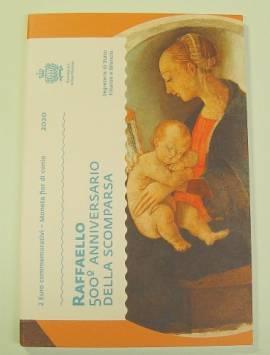 2 Euro San Marino 2020 - 500. Todestag von Raffael - im Folder