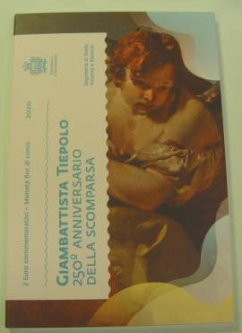 2 Euro San Marino 2020 - 250. Todestag von Tiepolo - im Folder