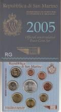 San Marino offizieller KMS 2005 stgl. - inkl. 5 € Antonio Onofri -