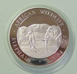 Somalia 100 Shillings Elefantenmotiv 2020 (1 oz)