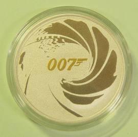 Tuvalu 1 $ 2021 - James Bond teilvergoldet - unc.