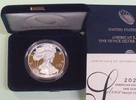 USA Silver Eagle1 $ 2020 Proof mit Box und Zertifikat
