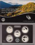 USA Quarter 2014 - America the Beautiful 5 - Silber Polierte Platte