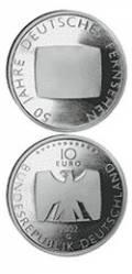10 € Deutschland 2002 - 50 Jahre Deutsches Fernsehen - bfr.