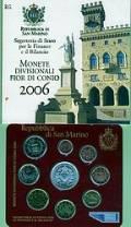 San Marino offizieller KMS 2006 stgl. - inkl. 5 € Melchiorre Delfico -
