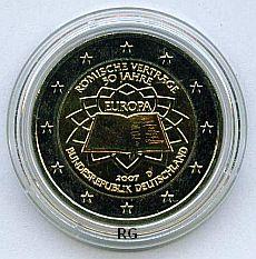2 Euro Deutschland 2007 Römische Verträge - D -