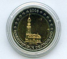 2 Euro Deutschland 2008 Hamburger Michel - A -