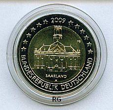 2 Euro Deutschland 2009 Ludwigskirche Saarbrücken - A -