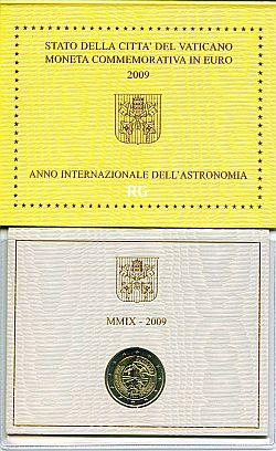 2 Euro Vatikan 2009 Internationales Jahr der Astronomie