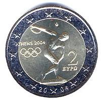 2 €  Griechenland 2004 - Olympische Spiele Athen -