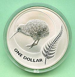 Neuseeland 1 Dollar Kiwi 2011 stgl.