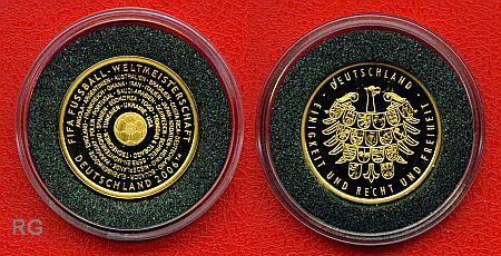 Deutschland Gold Gedenkpragung Fifa Fussball Weltmeisterschaft 2006 32 Teilnehmernationen