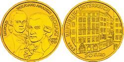 Österreich 50 € Berühmte Komponisten - Wolfgang Amadeus Mozart - 2006