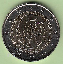 2 Euro Niederlande 2013 - 200 Jahre Königreich - bfr.