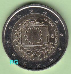 2 € Spanien 2015 - 30 Jahre EU-Flagge - bfr.