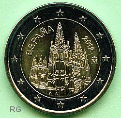 2 € Spanien 2012 - Kathedrale von Burgos - bfr.