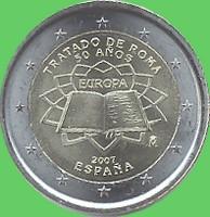 2 € Spanien 2007 - Römische Verträge -